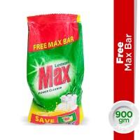 Max Dishwash Lemon Powder (With Free Max bar) - 900gm