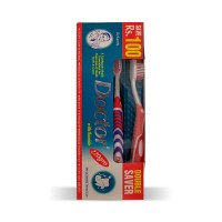 Doctor Tooth Paste Double Saver Brush Pack - 220gm