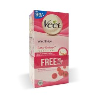 Veet Cream Silk and Fresh Normal Skin (pack of 2 With Free Wax Strips Pack) - 100gm