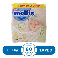 Molfix Taped 3 To 6kg - 80Pcs
