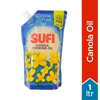 Sufi Canola Cooking Oil Poly Bag - 1Ltr