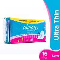 Always Ultra Thin - Long Pads (Pack of 16)