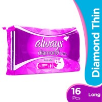 Always Diamond Thin - Long Pads (Pack of 16)
