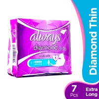 Always Diamond Thin Extra Long Pads (Pack of 7)