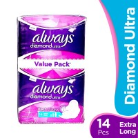 Always Diamond Ultra Extra Long Pads (Pack of 12)