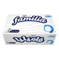 Familia 2 Ply Embossed Polythene Facial (300 Sheets)