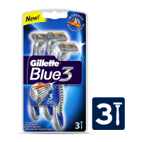 Gillette Blue III Disposable Razor (Pack of 3)