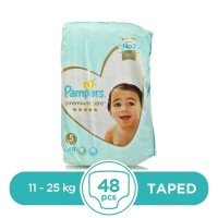 Pampers Premium Taped 11 To 25kg - 48 Pcs