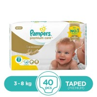 Pampers Premium Taped 3 To 8kg - 40Pcs