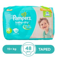 Pampers Taped 13+kg - 48Pcs