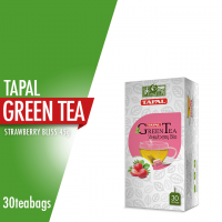 Tapal Green Tea Strawberry Bliss Tea Bags (Pack of 30)