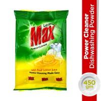 Lemon Max Lemon Power Cleaner Dishwash Powder Pouch - 450gm