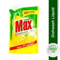 Lemon Max Lemon Dishwash Liquid Pouch - 450ml
