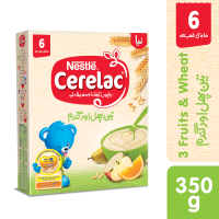 Nestle Cerelac 3 Fruits and Wheat (6+ Months) - 350gm