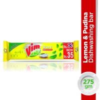 Vim Dishwash (2 in 1) Lemon and Pudina Soap Long Bar - 275gm