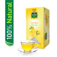 Vital Green Tea Bags Natural Lemon (Pack of 30) - 45gm