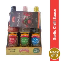 Shangrila Sauce Trio Pack 800ml (Pack of 3) Free Recipe Book (Save Rs 69)