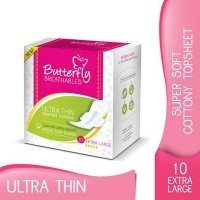 Butterfly Breathables Ultra Thin Sanitary Napkins - Extra Large (Pack of 10)