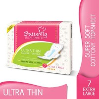 Butterfly Breathables Ultra Thin Sanitary Napkins - Extra Large (Pack of 7)