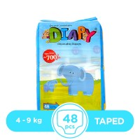 Diapy - 4 ~ 9 Kg - 48 Pieces - Taped