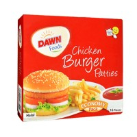 Dawn Chicken Burger Patties (Pack of 16) - 992gm