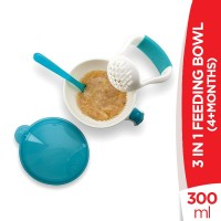Nuby 4+Months 3 in 1 Feeding Bowl With Masher - 300ml