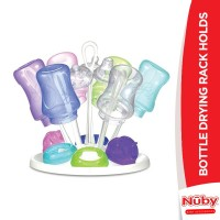 Nuby Bottle Drying Rack Holds 6 Bottles and 6 Nipples