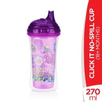 Nuby 18+Months Click IT No-Spill Cup - 270ml