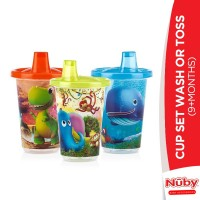 Nuby Cup Set Wash Or Toss (9+m)