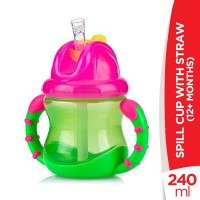 Nuby 12+ Months FLIP-IT No Spill Cup With Straw - 240ml