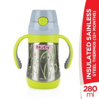 Nuby 12+Months Insulated Sainless Steel Thermos - 280ml