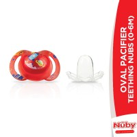 Nuby Oval Pacifier Teething Nubs (0-6M)
