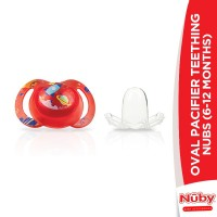 Nuby Oval Pacifier Teething Nubs (6-12 Months)