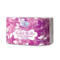 Cool and Cool Printed Embossed Toilet Roll 400s Twin Pack