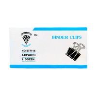 Diamond Binder Clip 1-1/4 Width 32mm (Pack of 12)