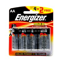 Energizer Max Cell AA (Pack Of 4+2 free)