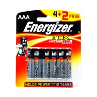 Energizer Max Cell AAA (Pack Of 4+2 free)