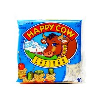 Happy Cow Slice Cheese Cheddar 200g (10 Slices)