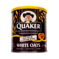 Quaker Quick Cooking White Oats Tin 500g