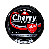Cherry Blossom Black Shoe Polish - 90ml