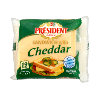President Sandwich With Cheddar Cheese (Pack of 12) - 200gm