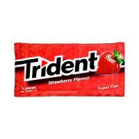 Trident Strawberry Sugar free Gum 8g (Pack Of 5)