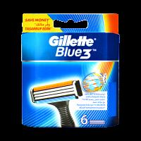 Gillette Blue3 Cartridges (Pack of 6)