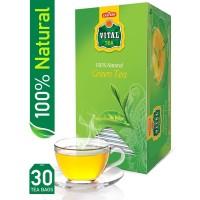 Vital Green Tea Natural (Pack of 30 Tea Bags) - 100gm
