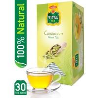 Vital Cardamom Green Tea (Pack of 30 Tea Bags)
