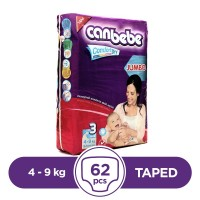 Canbebe Taped 4 To 9kg - 62Pcs