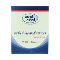Cool and Cool Refreshing Body Wipes (Pack of 5)