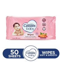 Cussons Soft and Smooth Baby Wipes 50sheets