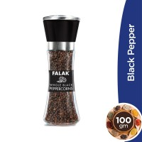 Falak Black Pepper Glass Bottle - 100gm