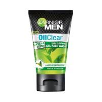Garnier Men Oil Clear Matcha D Tox Skin Purifying Gel Face Wash - 100gm